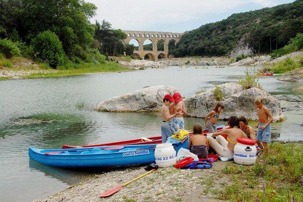 Paddeltour: auf dem Gardon zum Pont du Gard