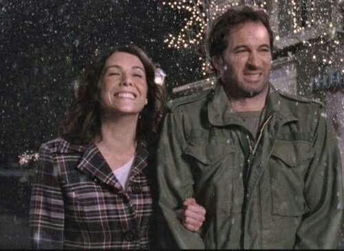 Gilmore Girls - Lorelai & Luke, this picture pretty much sums up their relationship