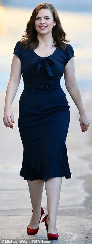 Hayley Atwell I love her figure. It's real.