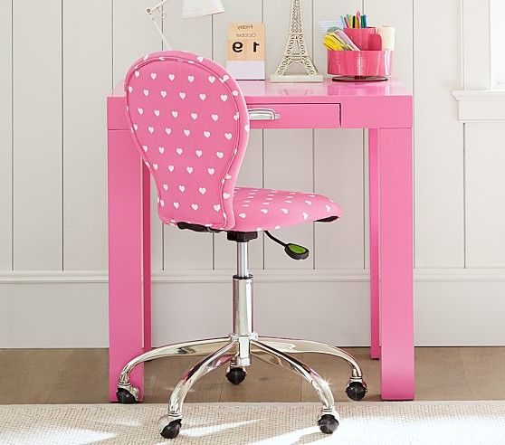 Pretty In Pink The Parsons Mini Desk Is Perfect For Any