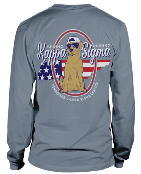 Kappa Sigma Rush T-shirt  | MetroGreek | Kappa Sigma T-shirt | Greek T-shirt| Americana | Fraternity Rush |