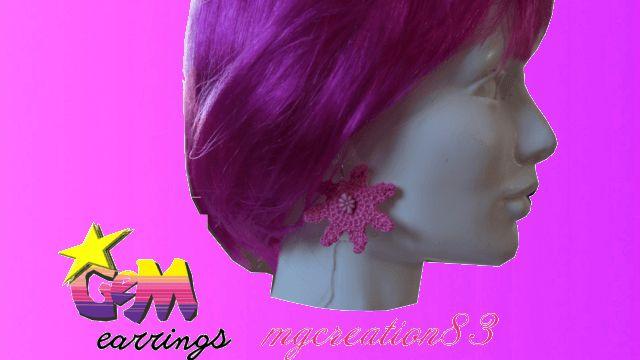 GeM earrings - ispirata da Jem & the Holograms