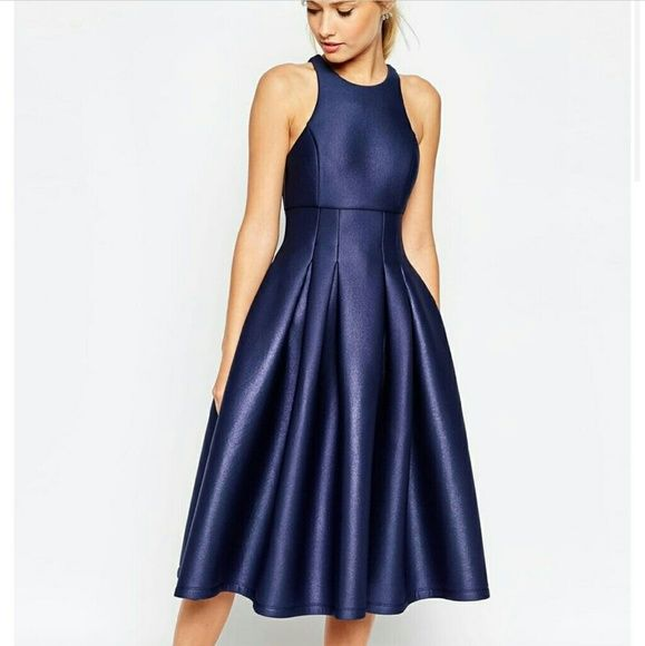 **ISO** Asos Shimmer Scuba Dress Looking for a size 10 or 12 ASOS Dresses Midi