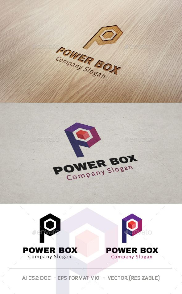 formats of business letters%0A Power Box   Letter P Logo