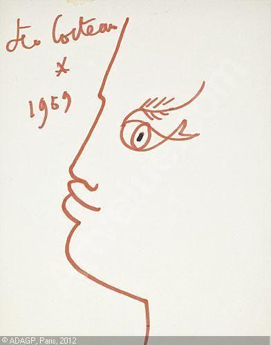 cocteau-jean-1889-1963-france-profil-a-l-oeil-poisson-1691253-500-500-1691253.jpg (392×500)