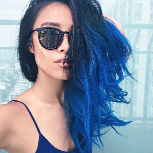 Azul é a cor mais quente | blue hair