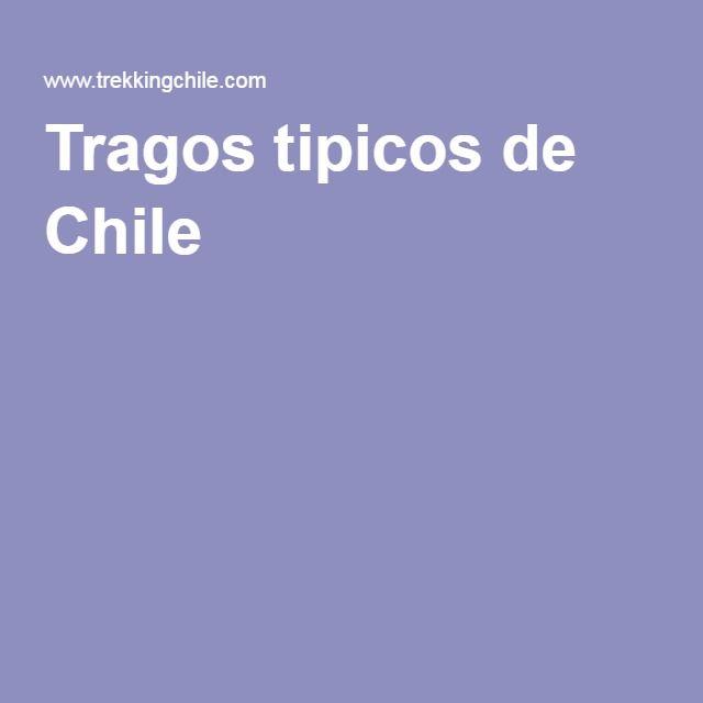 Tragos tipicos de Chile