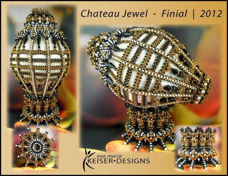 Beautiful Beaded Faberge Egg from Eva Marie Keiser Designs featured in Bead-Patterns.com Newsletter!