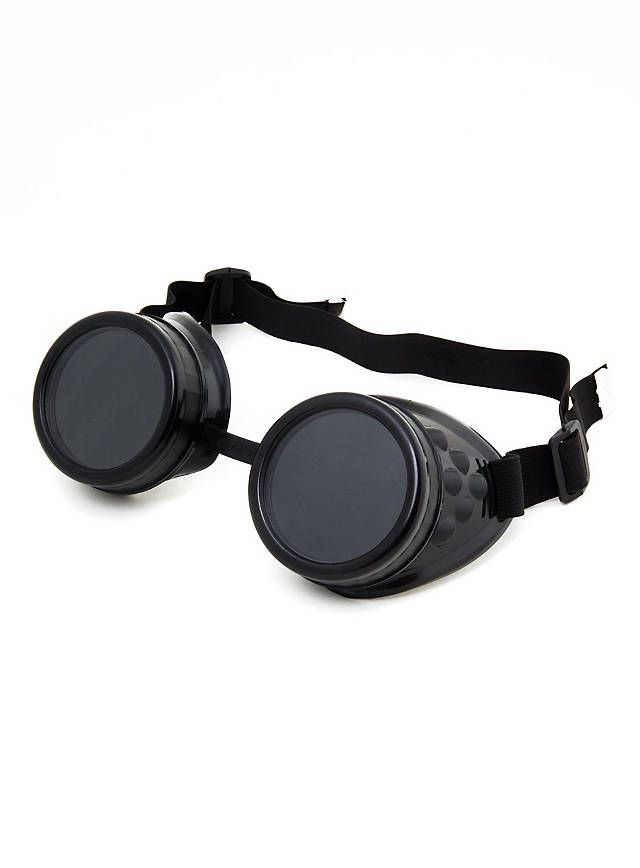 Steampunk Schweißerbrille schwarz