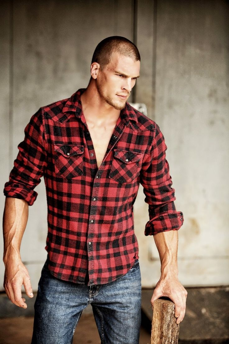 There is just something about him holding the wood in his hand….