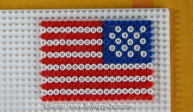 10 fuse beads flags – Easy craft for kids to learn countries
