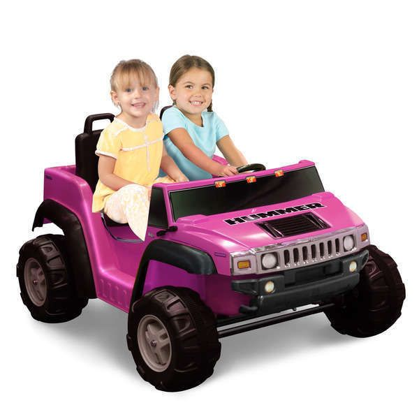electric cars for kids to ride hummer h2 toddlers toy pink 2 seater fun 12 volt