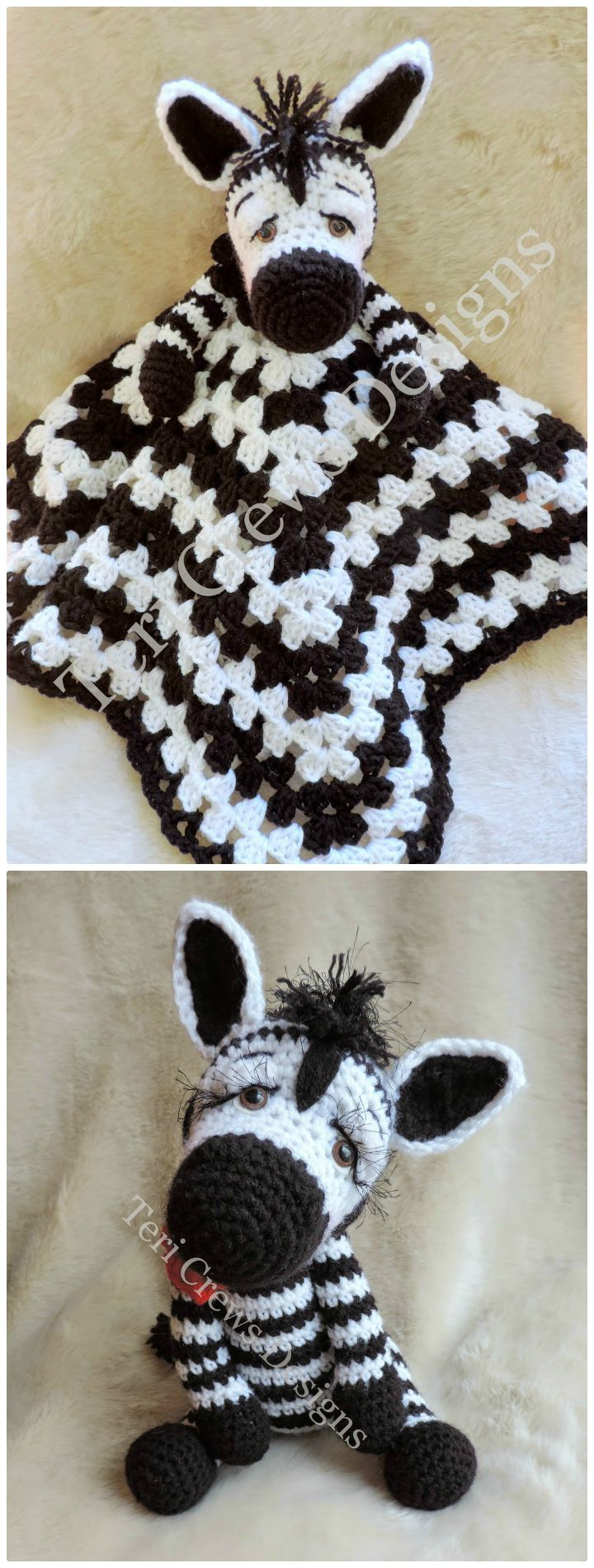 26 Free Crochet Zebra Patterns / Hat, Blanket, Amigurumi - DIY & Crafts