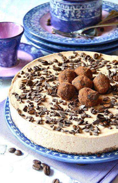 Cheesecake con crema al caffè e ricotta, Pensavate che avessi dimenticato i miei adorati cheesecake??Certo che no, anzi il cheesecake r les meilleures recettes de cuisine d'Internet sur speedrecette