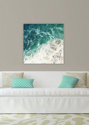 large beach photography // beach canvas // beach