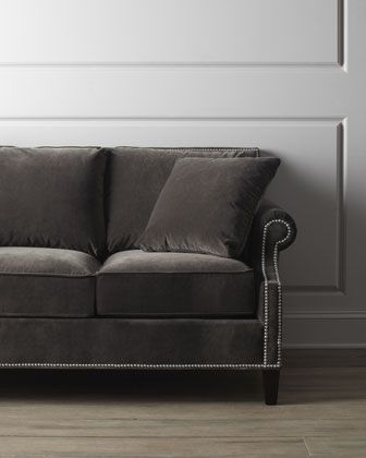 """""""Glencrest"""" Sofa at Neiman Marcus.Love(down/feather) gray/brown 1,999."""
