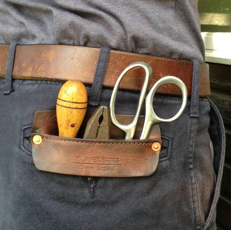 handmade leather pocket by tanner bates | notonthehighstreet.com