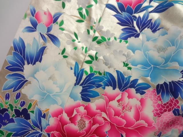 [ アンティーク着物 ] - 振袖 アンティーク 塩瀬金彩手描き友禅花模様花嫁衣装色打掛 着物、アンティーク着物、リサイクル着物のシンエイ