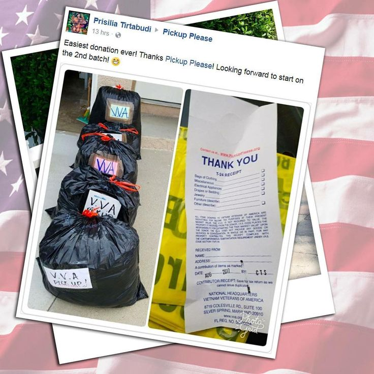 Thank you Prisilia for 📌 tagging us in your pickup, we appreciate your generous 📦📦 donations that will help our American veterans! . .#donationsforveterans #vva #vietnamveteransofamerica #veteransofamerica #helpveterans #donationpickup #reuseclothes #oldclothes #helpyourcommunity #freedonationpickup #closetcleanout #cleanout #outwiththeold #fallcleanup #givethanks #socialgood #donated #helpothers #inspireothers #posttramaticstressdisorder #salvationarmy #ptsd