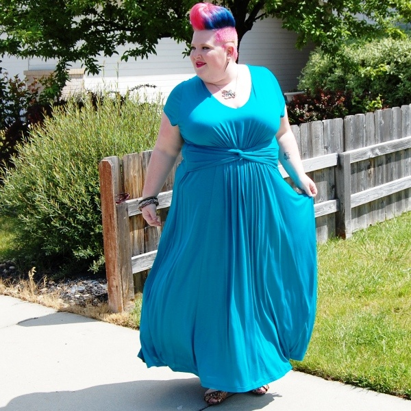 """""""I have been dying to get my hands on a  designer maxi dress perfect for Summer and when I saw the Antonia Dress in Lagoon Blue on the IGIGI site I knew I had found just what I was looking for.""""~ Stiletto Siren"""