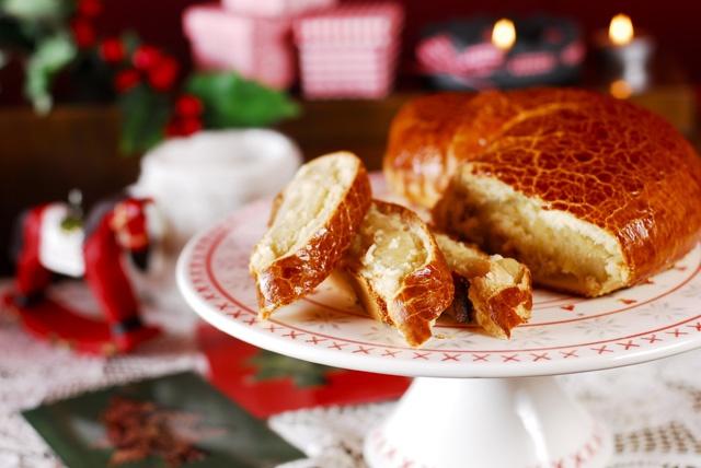 Karácsonyi bejgli citrommal és marcipánnal