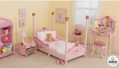KidKraft Princess Toddler Four Poster Customizable Bedroom Set - Wayfair Kids Bedroom http://fave.co/2ciyYne