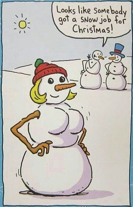 Frosty the Snowman's Wife Gets a Boob Job. Somebody Got A Snow Job for Christmas ---- hilarious jokes funny pictures walmart humor fails