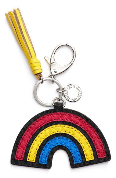 Free shipping and returns on Rebecca Minkoff 'Rainbow' Bag Charm at Nordstrom.com. A cute leather bag charm with a fun '70s vibe features a cheery rainbow and a sunny yellow tassel.