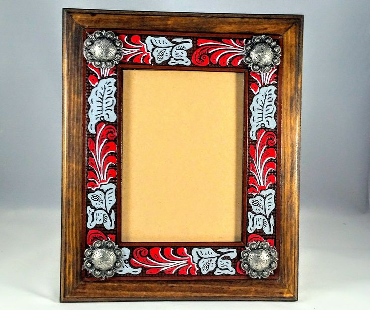 OSU Leather Picture Frame - Ohio State Leather Frame - Ohio State Frame -  Tooled Leather Frame - Leather Stand - Embossed Leather Frame by DZPaintedLeather on Etsy