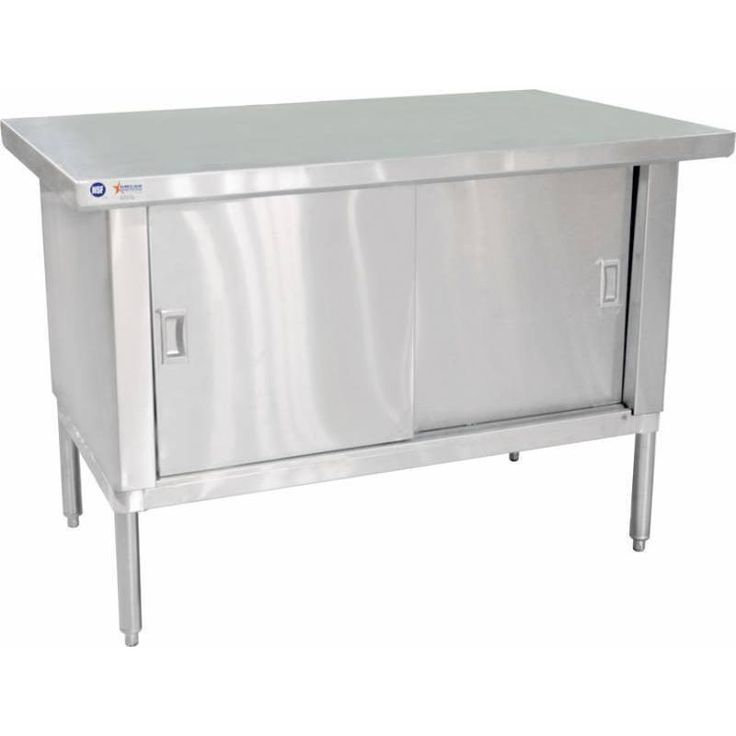 """Commercial Stainless Steel Work Prep Table Cabinet 30"""" x 48"""" with 3"""" Overhangs"""