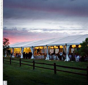 Outdoor Tent Wedding + Lighting $2000