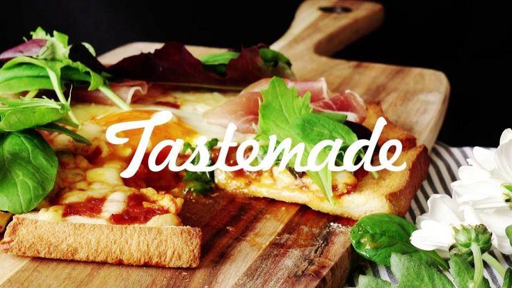 【レシピ】食パンで作る半熟卵のピザの作り方