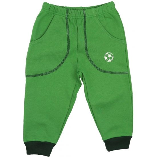Pantaloni trening groși verzi cu buzunar imprimeu minge de la http://magazin.liloo.ro