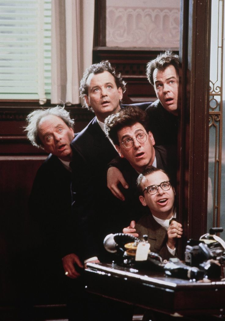Harris Yulin, Bill Murray, Harold Ramis, Rick Moranis & Dan Aykroyd in #Ghostbusters 2 (1989).