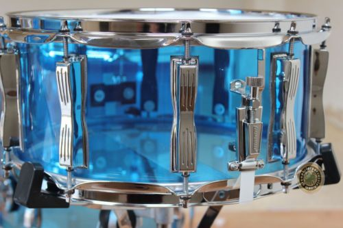 Ludwig Vistalite Acrylic 6 5x14 Supraphonic Snare Drum Blue NEW USA Made | eBay