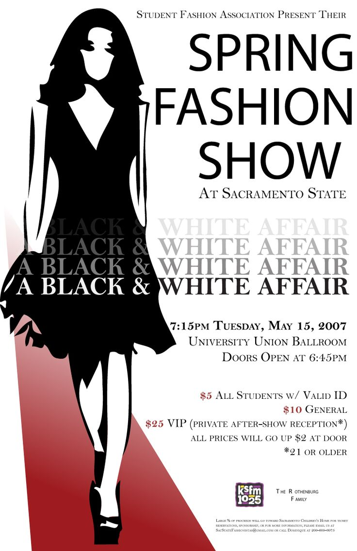Quick poster design - Fall 2007 Quick Poster We Had To Recreate For A Past Fashion Show Event On Campus Fashion Show Poster