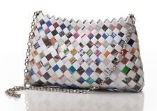 handbags & purses,candy wrapper bags,recycled , eco,