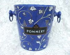 $38 Exquisite Vintage FRENCH Metal POMMERY CHAMPAGNE BUCKET...Blue Design