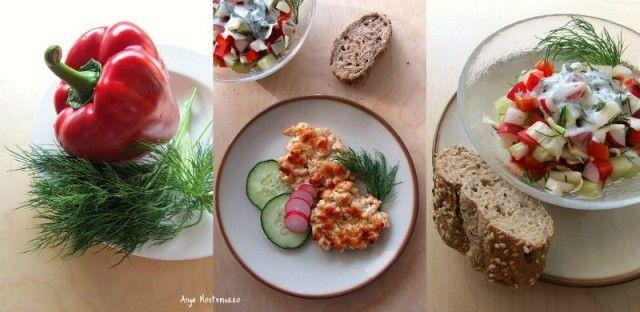КУРИНЫЕ КОТЛЕТЫ + САЛАТ витаминный! диетический! весенний!