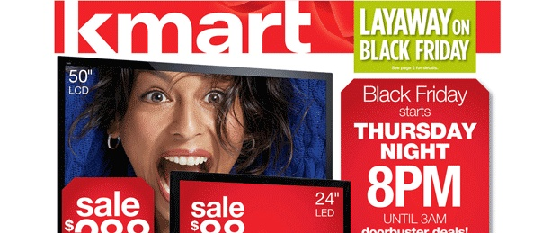 Kmart Black Friday 2012 Online Sale has launched on Thanksgiving Day