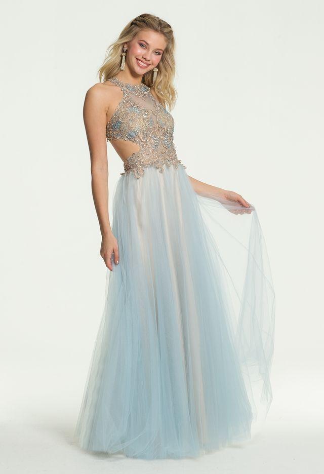 1f92cc10c59 Two Tone Metallic Lace Ballgown Dress from Camille La Vie