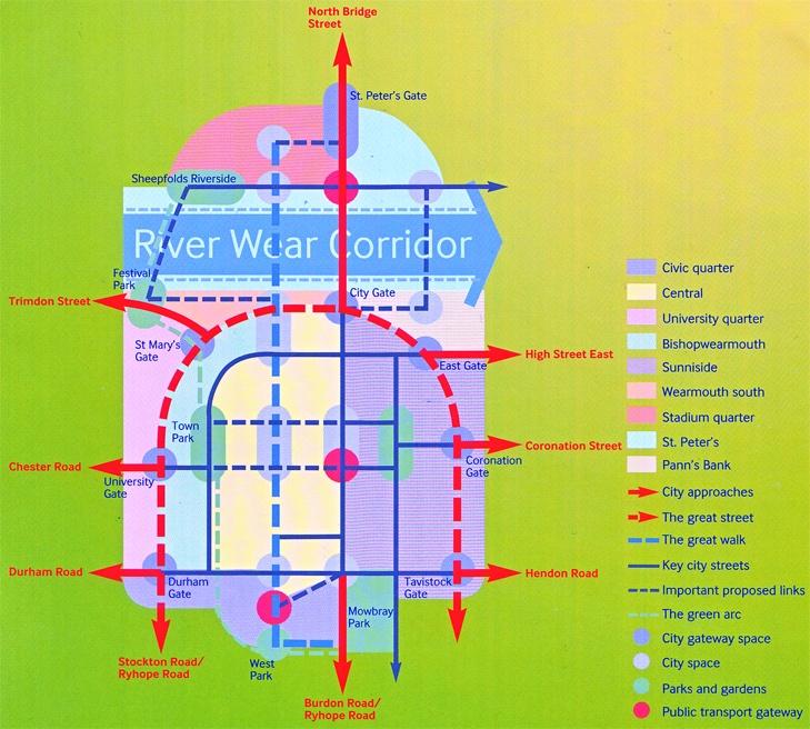 85 best urban design diagrams images on pinterest urban design concept plan from planning implementation november 2007 sunderland central area urban design strategy ccuart Gallery
