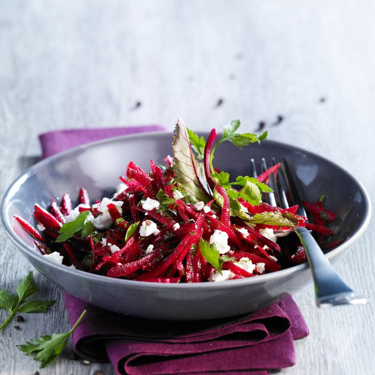 Voir la recette de la salade de betterave à la feta