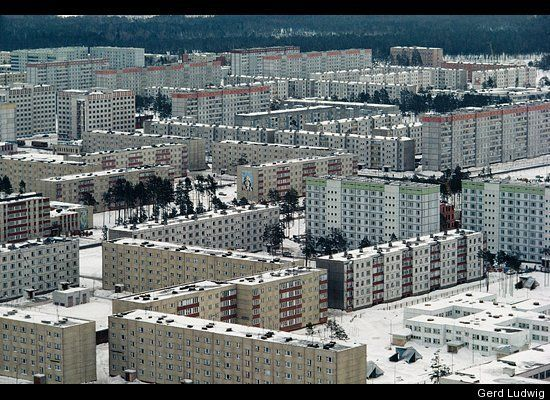 Pripyat once inhabited 50,000 residents, now stands as a ghost town.  Still, after 25 years no one without protected suits can go in there.