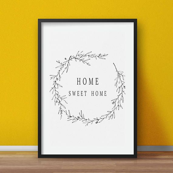 Home printable Home sweet home wall art Instant digital