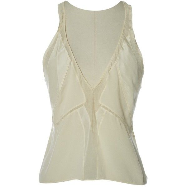 Pre-owned Balenciaga Silk Camisole (1520 MAD) ❤ liked on Polyvore featuring intimates, camis, beige, women clothing tops, balenciaga, beige cami, silk camisole and silk cami
