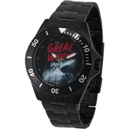 Discovery Channel Shark Week Men's Honor Black Stainless Steel Watch, Black Bezel, Black Stainless Steel Bracelet