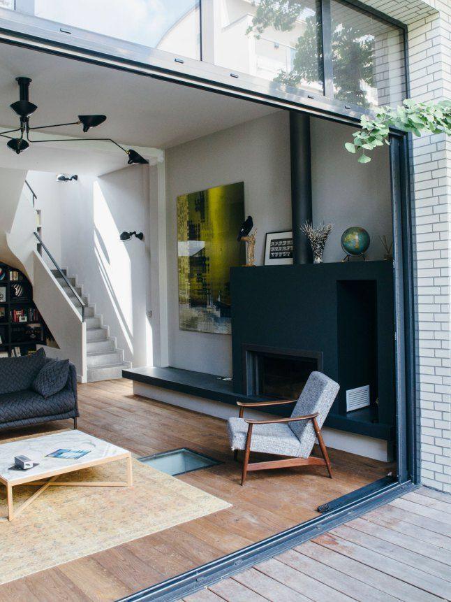 Une maison avec patio inspirée par les lofts