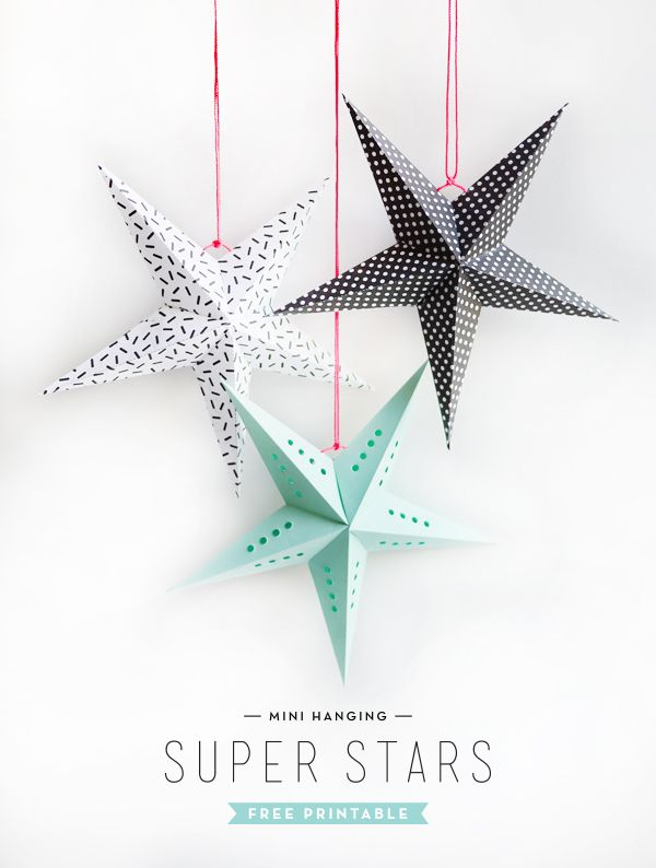 DIY Free Printable Mini Super Stars