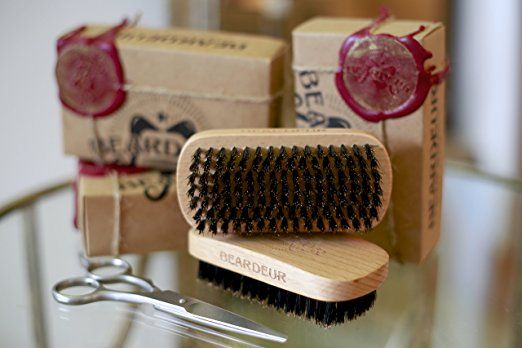 Beard Brush, Best Natural Wooden Hair Brush For Men, 100% Firm Black Wild Boar Bristle, Use with Balm & Beard Oil to Style & Groom, Premium Military Style Palm Brush for Beard Care,... - http://amzn.to/2uyQ04G